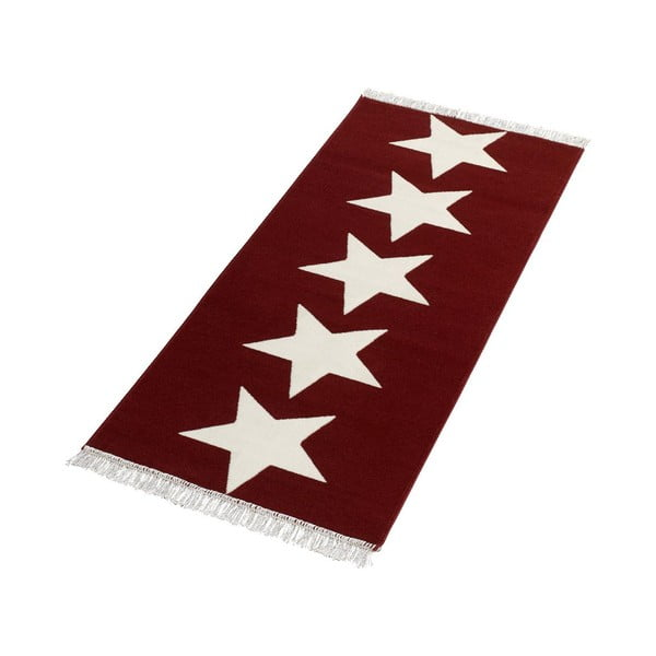 Czerwony chodnik Hanse Home Stars, 80 x 200 cm