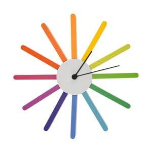 Zegar w kolorach tęczy Incidence Basics, ⌀35cm