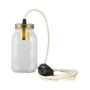 Lampa JamJar Lights, kremowy okrągły kabel