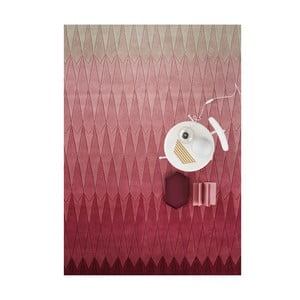 Wełniany dywan Acacia Pink, 140x200 cm