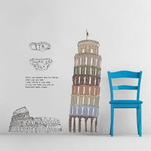 Naklejka ścienna Pisa Italia, 60x90 cm