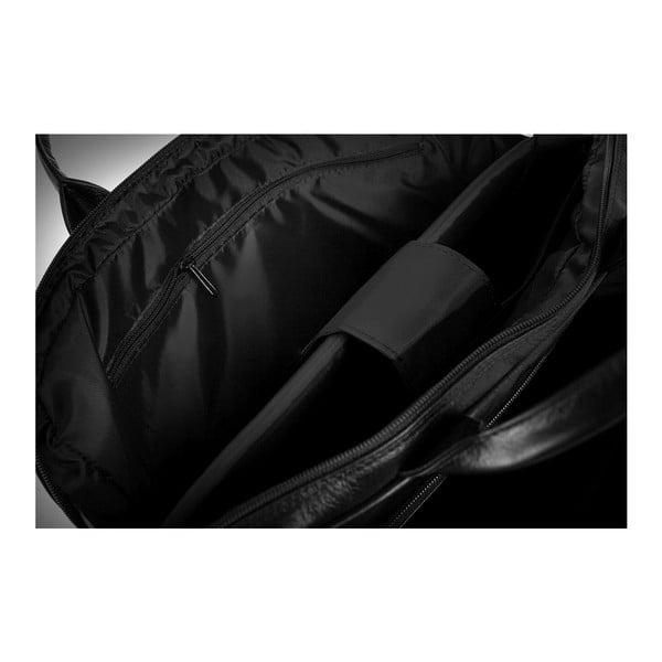 Torba męska skórzana Solier SL30, czarna