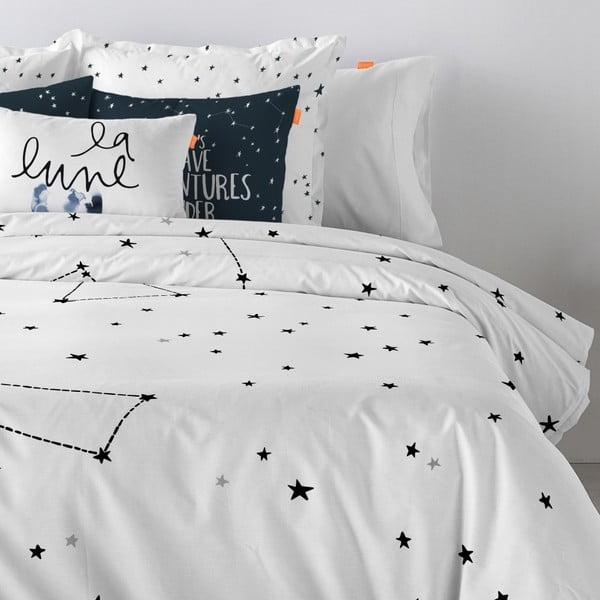 Bawełniana poszwa na kołdrę Blanc Constellation, 140x200 cm