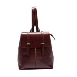 Bordowy skórzany plecak Sofia Cardoni Noemi