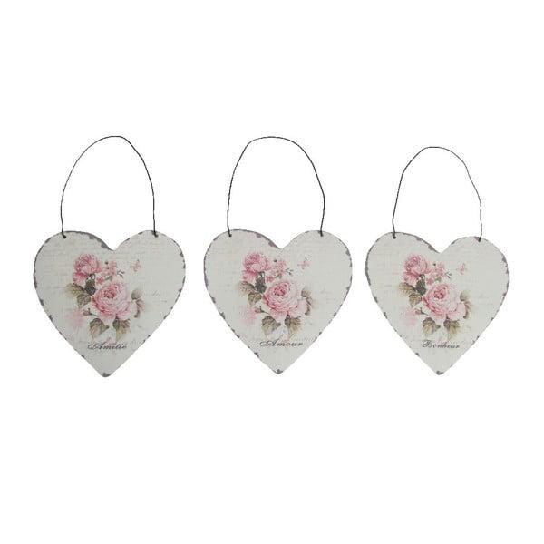 Zestaw 3 dekoracji wiszących Antic Heart