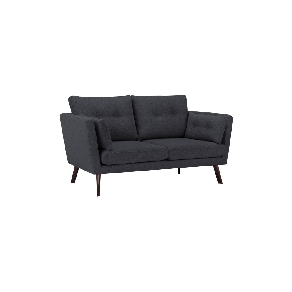 Ciemnoszara sofa 3-osobowa Mazzini Sofas Elena