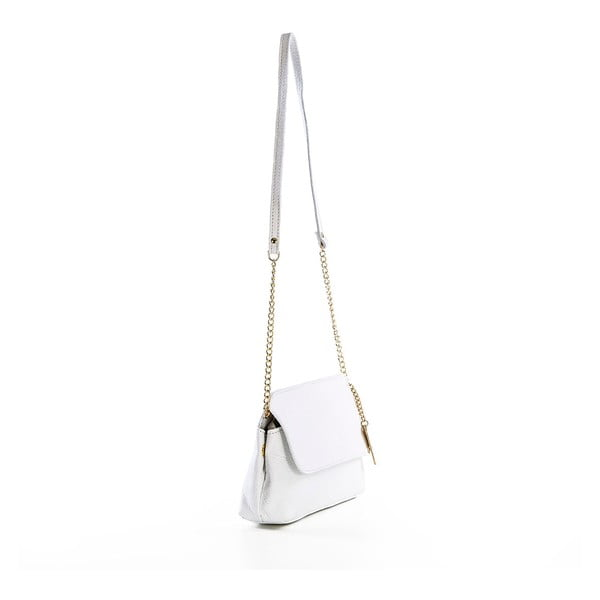 Skórzana torebka Envelope White