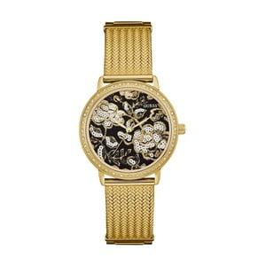 Zegarek damski w złotym kolorze z paskiem ze stali nierdzewnej Guess W0822L2
