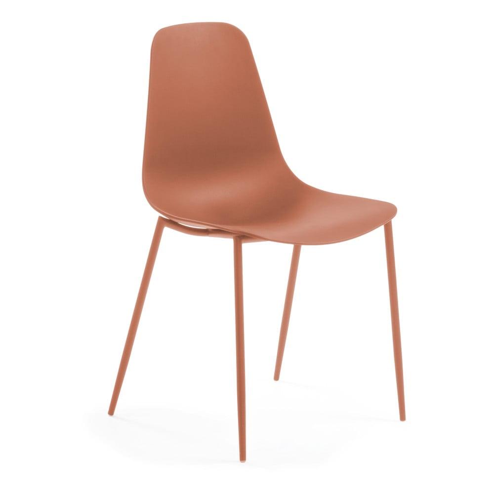 Ciemnopomarańczowe krzesło La Forma Wassu