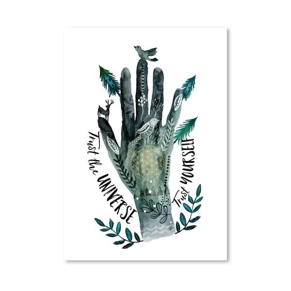 Plakat (projekt: Mia Charro) - Trust The Universe