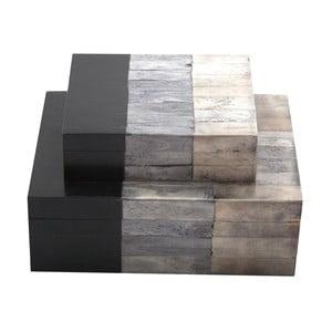 Zestaw 2 pudełek Bone White/Grey/Black