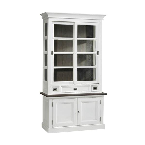 Biała przeszklona witryna Canett Skagen Cabinet, 3 szuflady