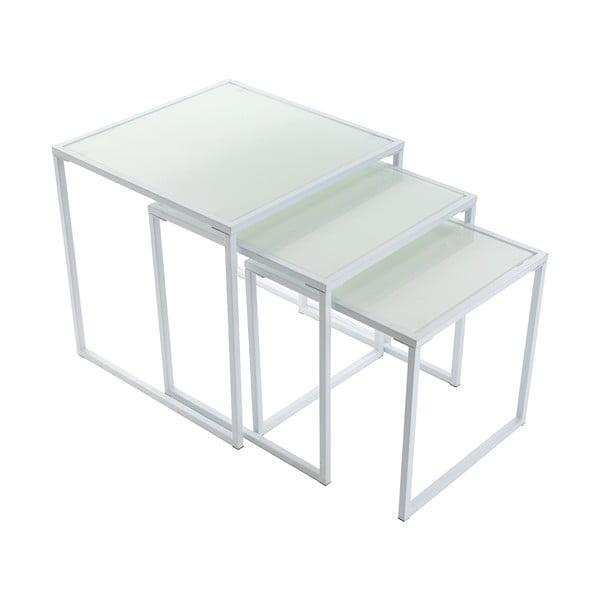 Zestaw 3 stołków White Trays