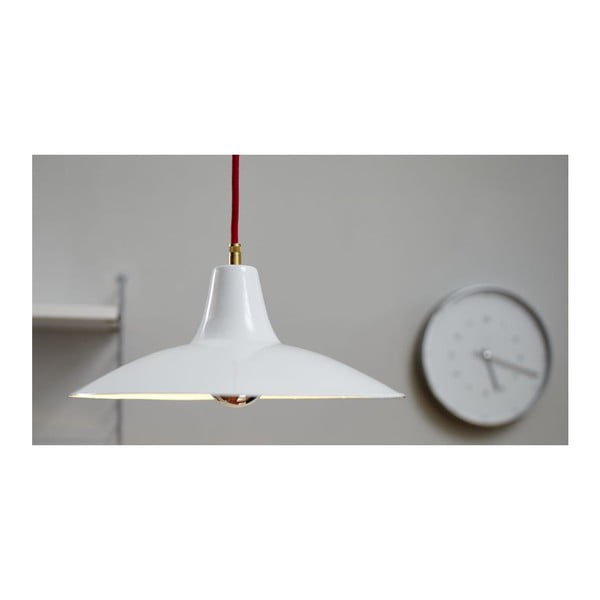 Lampa sufitowa Emailleleuchte 08 White/Red