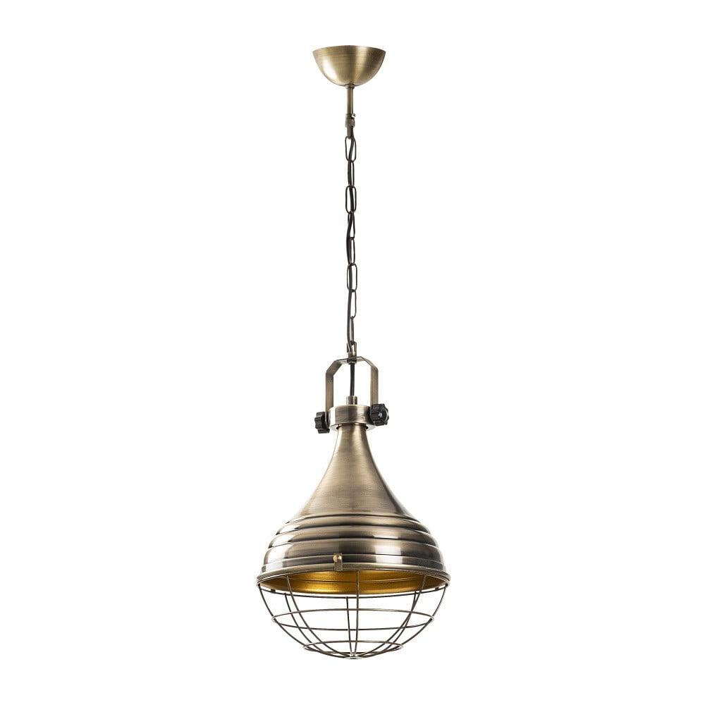 Metalowy lampa wisząca w złotym kolorze Opviq lights Jim