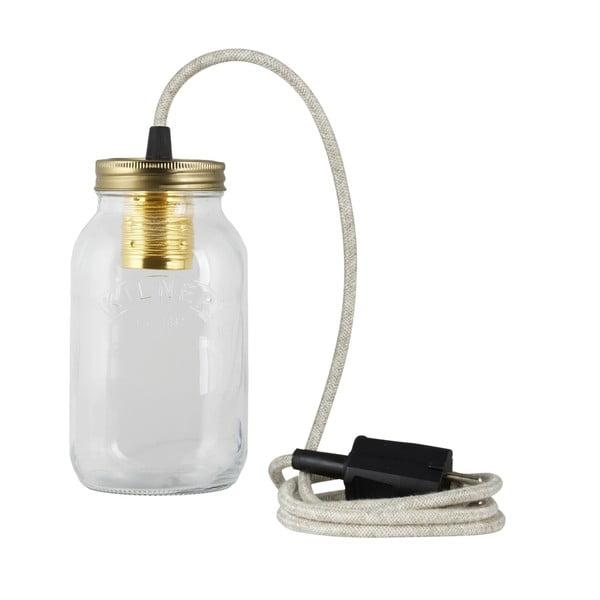 Lampa JamJar Lights, naturalny okrągły kabel