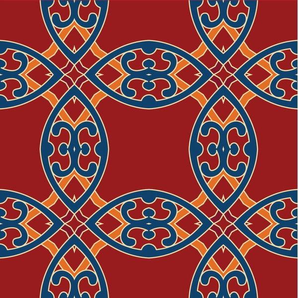 Naklejki Tile Art, red, 4 szt