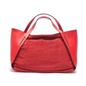 Skórzana torebka Mangotti 878, czerwona