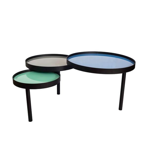 Potrójny stolik kawowy Triplex