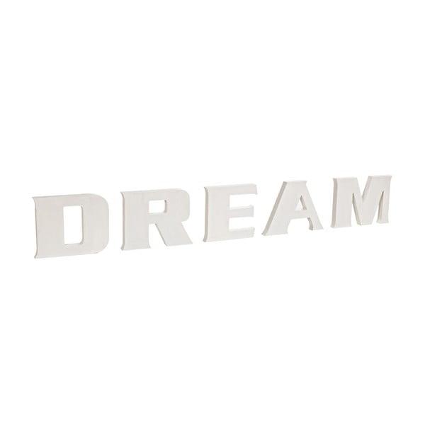 Napis dekoracyjny Dream, biały