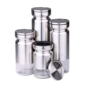 Zestaw 4 pojemników Steel Lux