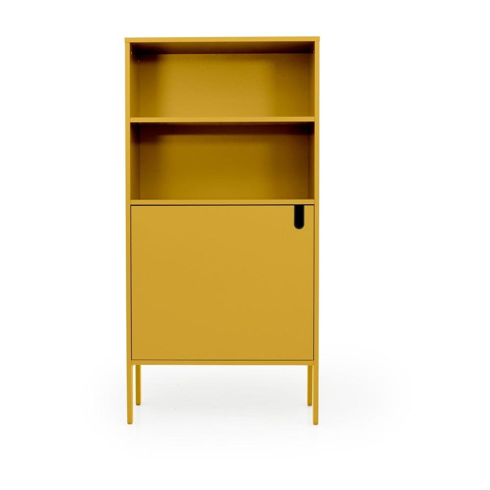 Żółta szafka Tenzo Uno, szer. 76 cm