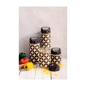 Zestaw 4 pojemników szklanych z wieczkiem Kutahya Kitchen Art