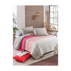 Pikowana narzuta z poszewkami na poduszki Willy, 200x220cm