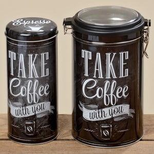 Komplet 2 pojemników na kawę Coffee Typo