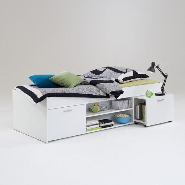 Łóżko jednoosobowe Carlo 90x200 cm, białe