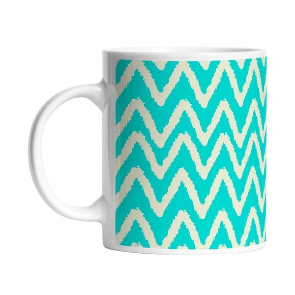 Ceramiczny kubek Ethnic Blue, 330 ml