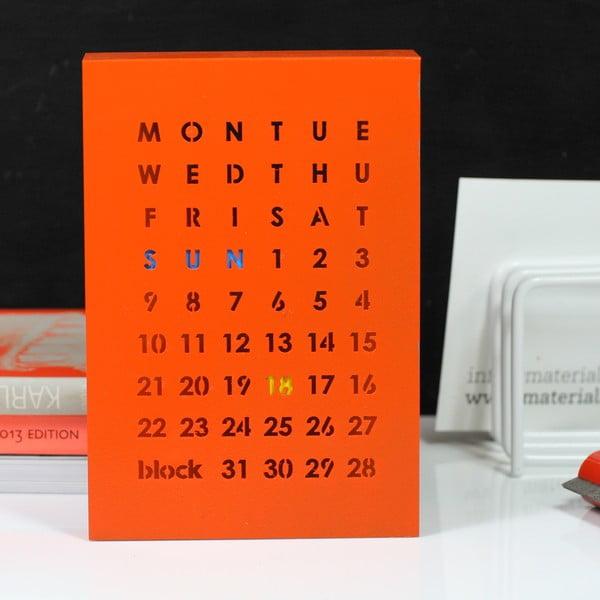 Magnetyczny kalendarz Perpetual Calendar, pomarańczowy