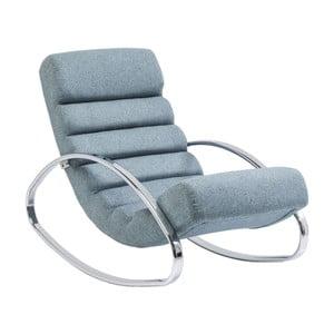 Niebieski fotel na biegunach Kare Design Manhattan