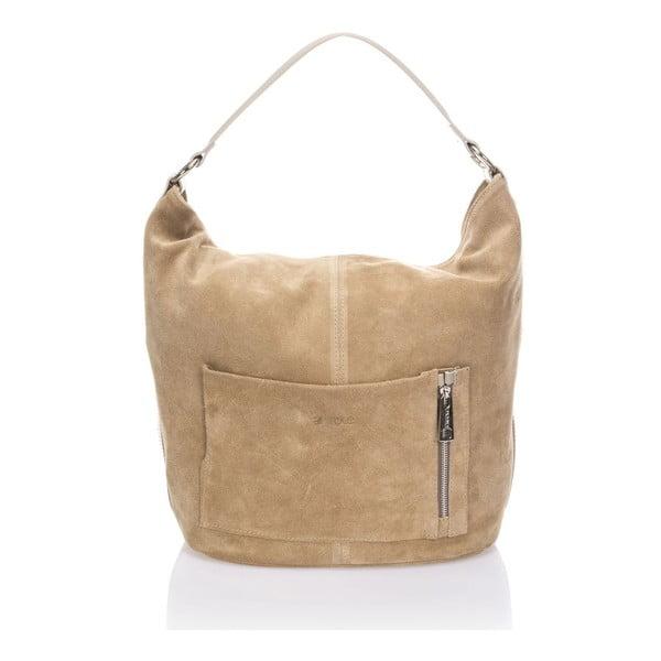 Beżowa torebka skórzana Krole Kim