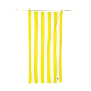 Ręcznik szybkoschnący w żółte pasy Dock and Bay, 160x80 cm