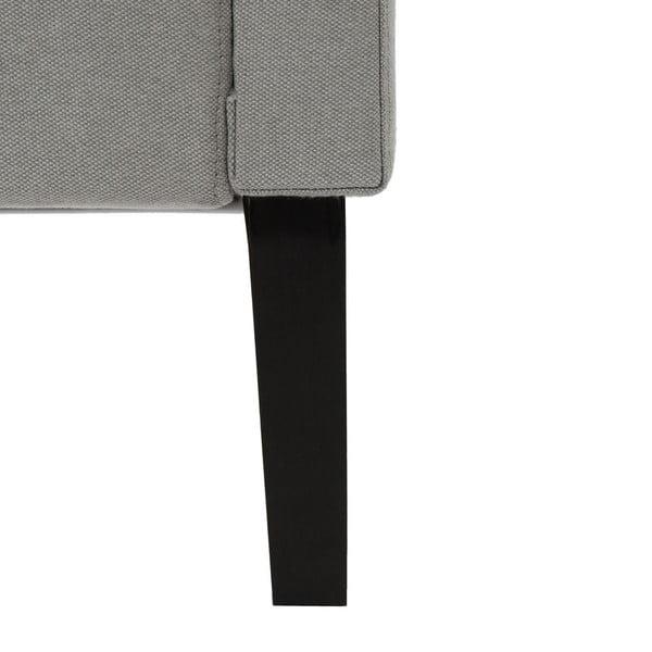 Jasnoszare łóżko z czarnymi nóżkami Vivonita Kent, 160x200 cm