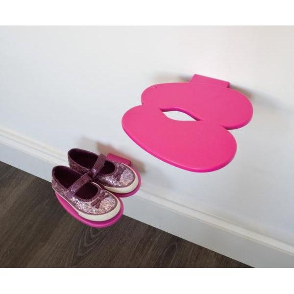 Półka na buty dziecięce  J-ME Footprint, różowa