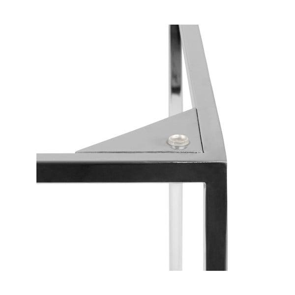 Czarny stolik marmurowy z chromowanymi nogami TemaHome Gleam, 50 cm