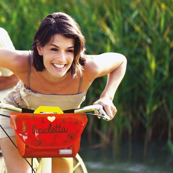 Torba na kierownicę I ♥ Bicicleta, zielona