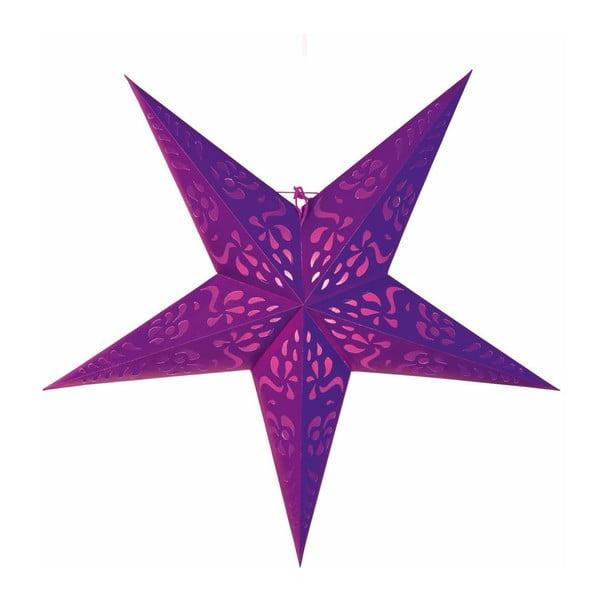 Gwiazda dekoracyjna Five Purple, 60 cm
