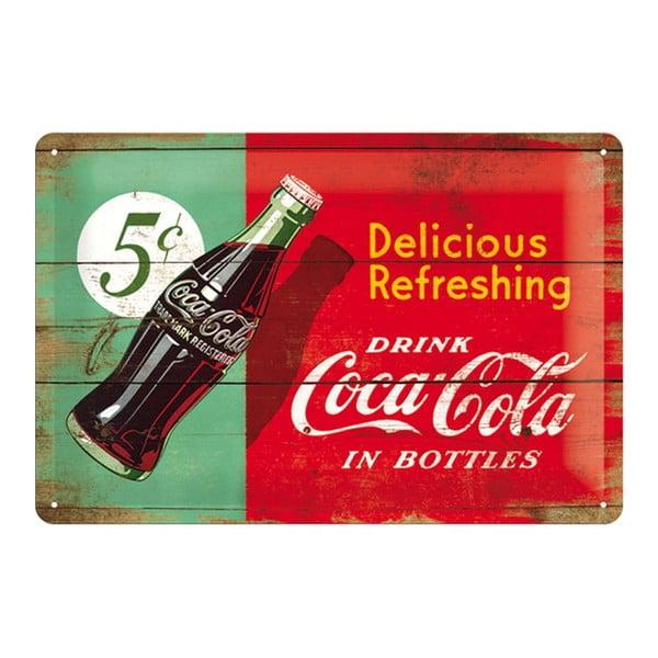 Tabliczka blaszana 5c Coca Cola, 20x30cm