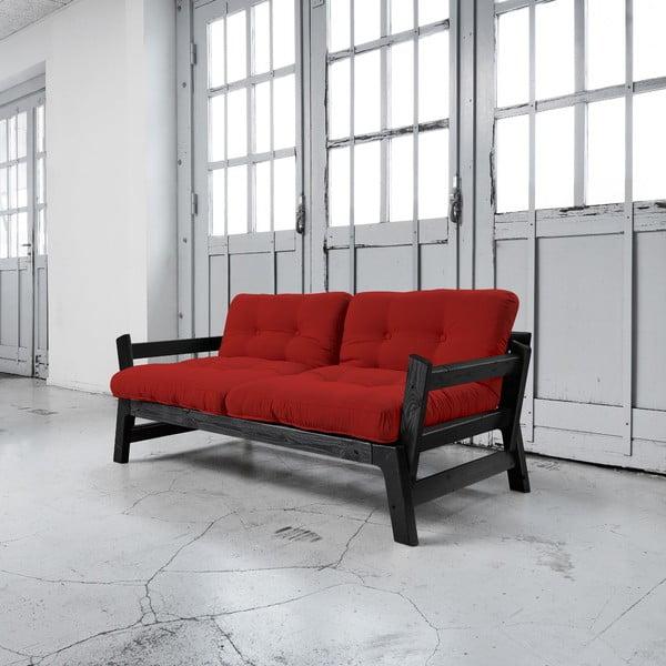 Sofa rozkładana Karup Step Black/Red