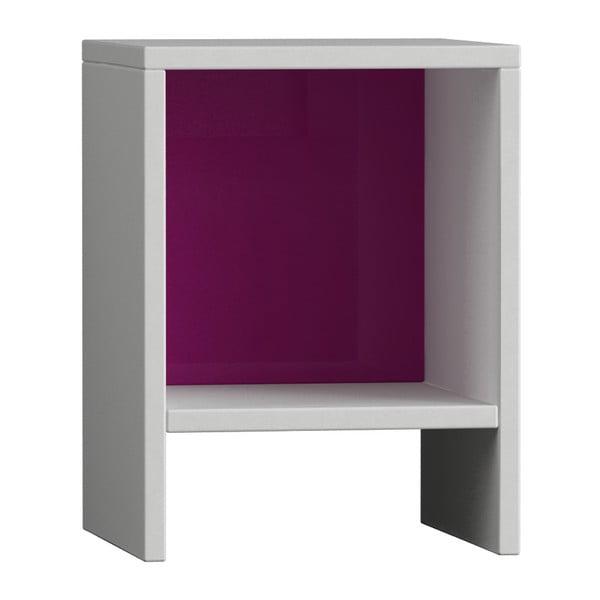Półka Pui, biała/fioletowa