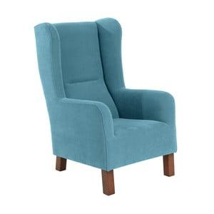 Niebieski fotel Max Winzer Bruno Velor