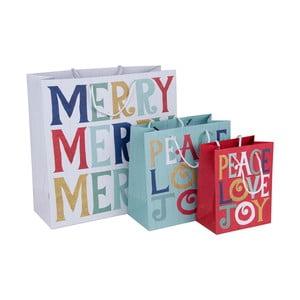 Zestaw 3 torebek na prezenty Tri-Coastal Design Merry Merry Merry
