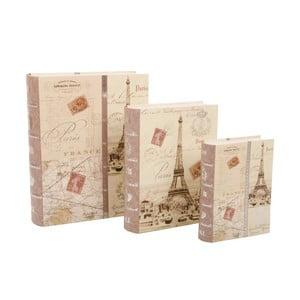 Zestaw 3 pudełek Paris Book