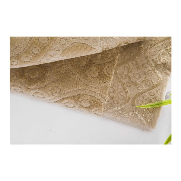 Zestaw 2 ręczników Sal Light Brown, 50x90 cm i 70x140 cm