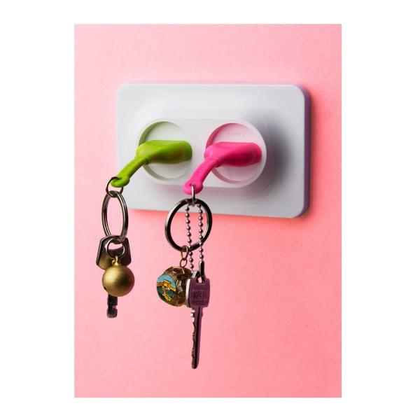 Wieszak na klucze Unplug Key Ring, zielony/różowy