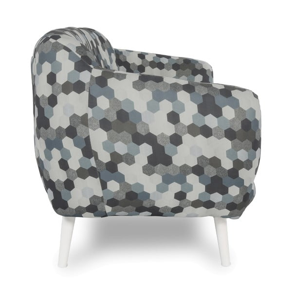 Sofa dwuosobowa Omnia Grey, białe nóżki
