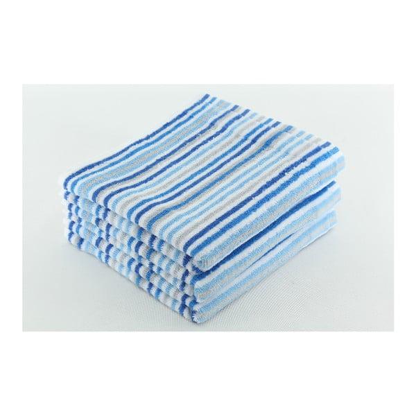 Zestaw 3 ręczników Collette Sky, 50x100 cm